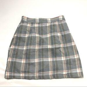 Heartbreak Tailored Mini Plaid Skirt Size XS Blue